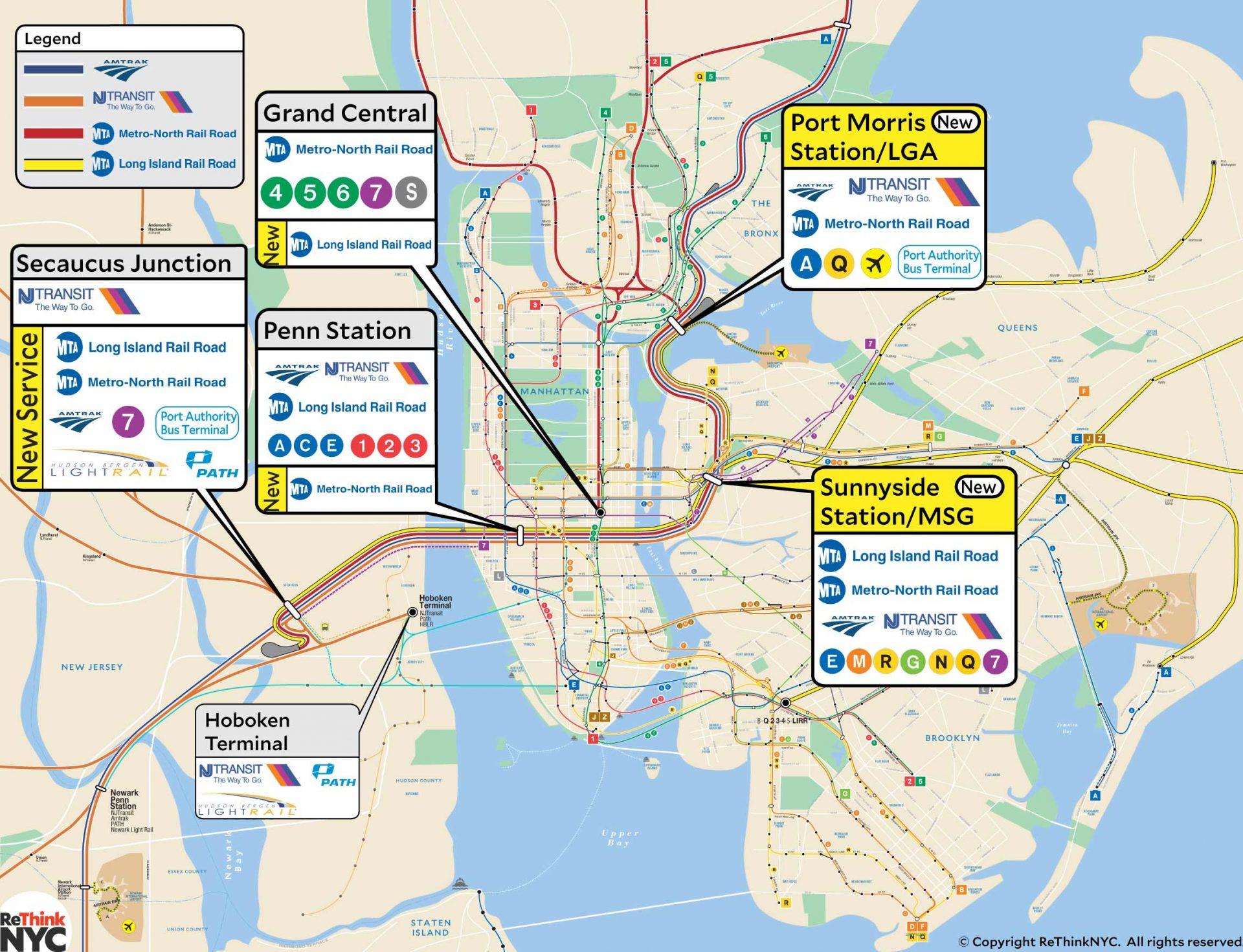 ReThinkNYC Plan ReThink Studio – Map of Greater New York City Area
